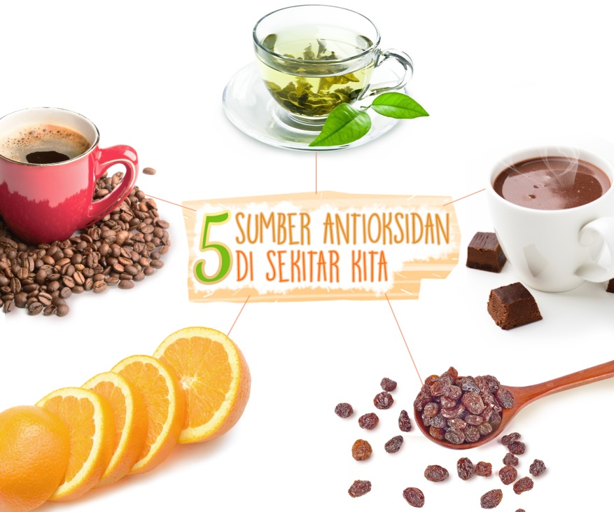 5 Sumber Antioksidan di Sekitar Kita