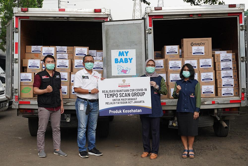 Realisasi Bantuan Donasi CSR COVID-19 Tempo Scan Group kepada 3 Lembaga Sosial di Jakarta